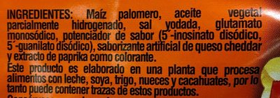 Palomitas sabor Cheddar - Ingrediënten - es