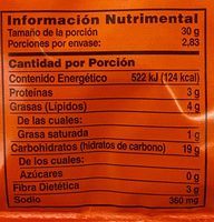Palomitas sabor Cheddar - Voedingswaarden - es