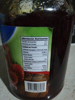 Mermelada de fresa - Informació nutricional - es