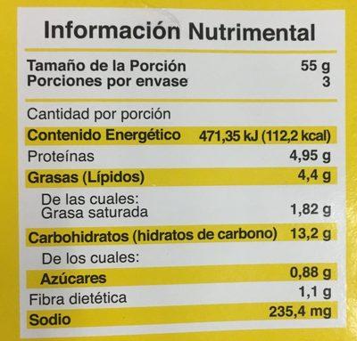 Pizza Hawaiana - Nutrition facts - es