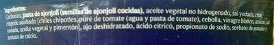 Extra special Hummus Natural - Ingrédients - es