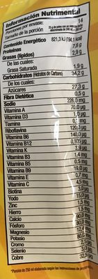 Chocolate en polvo - Información nutricional - es