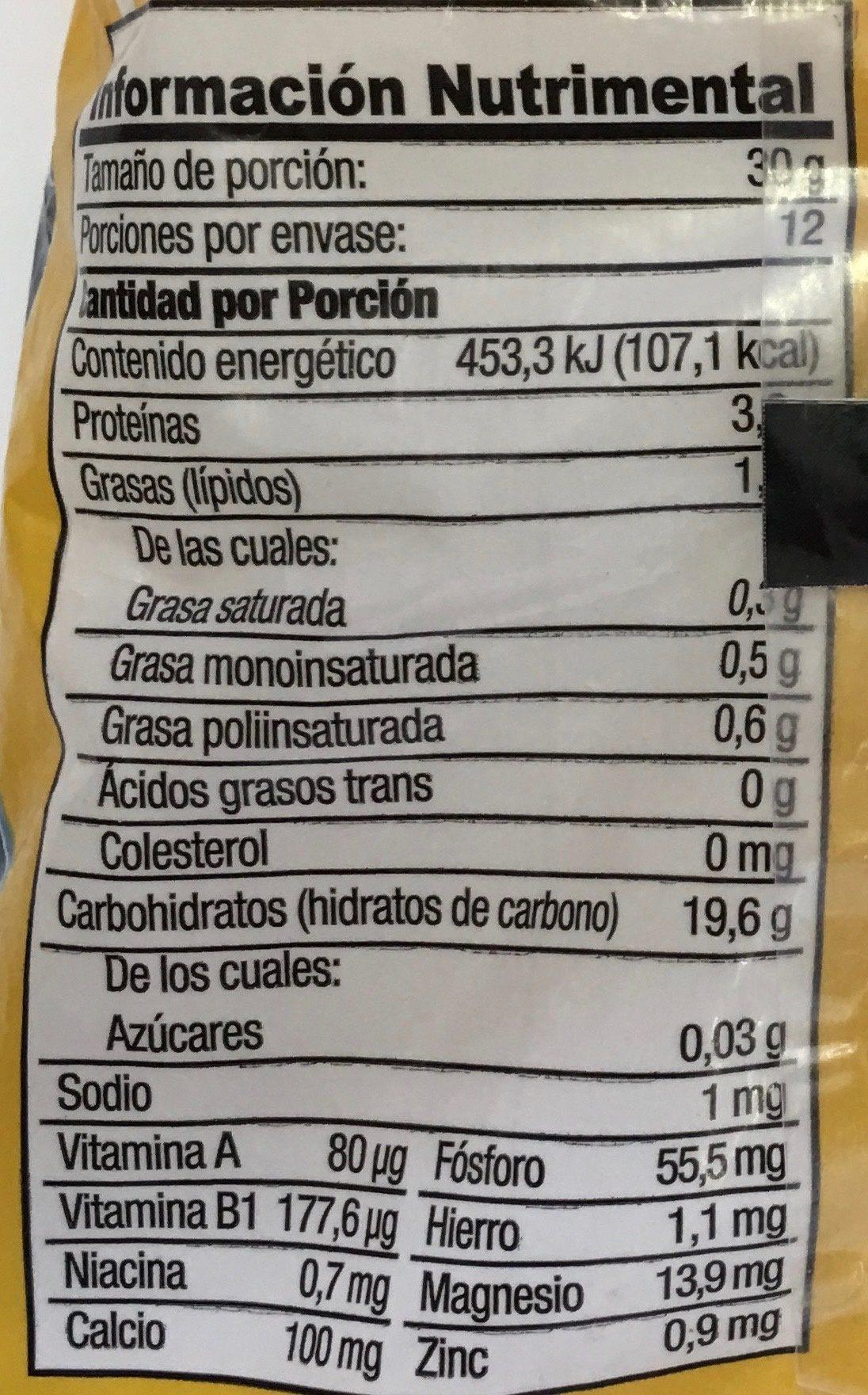 AVENA Y SEMOLA DE TRIGO - Nutrition facts - es
