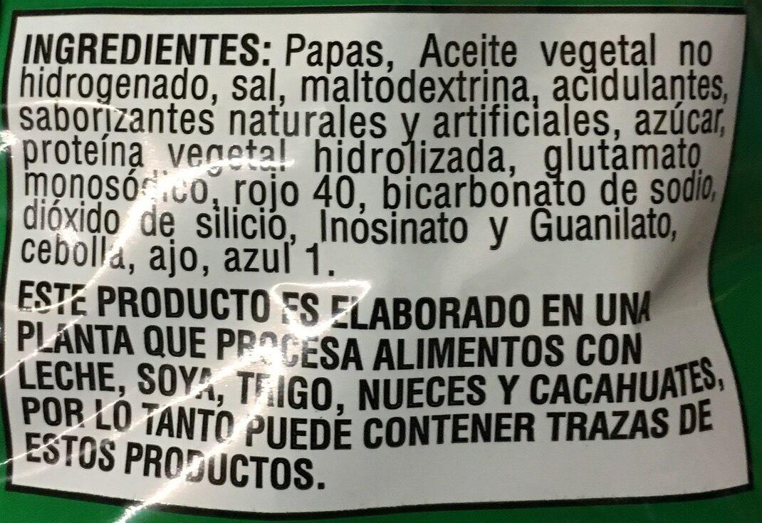 Jalapeño papas - Ingredients
