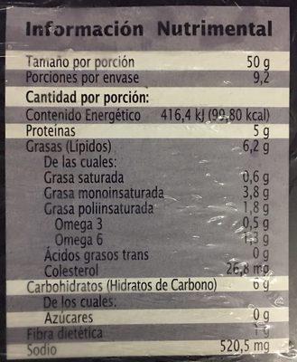 Camarones empanizados, Extra Especial - Voedingswaarden - es