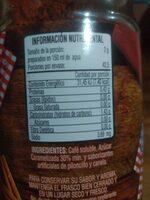 Café de olla - Informació nutricional - es