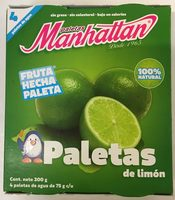Paletas  de Limón Manhattan - Produit - es