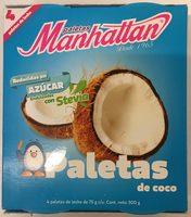 Paletas sabor coco endulzadas con stevia - Produit - es