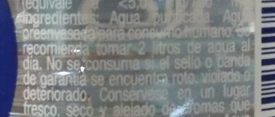 H2O bio leve - Ingredienti - es