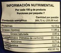 Pop Corn de pechuga de pollo Pilgrim's - Voedingswaarden - es