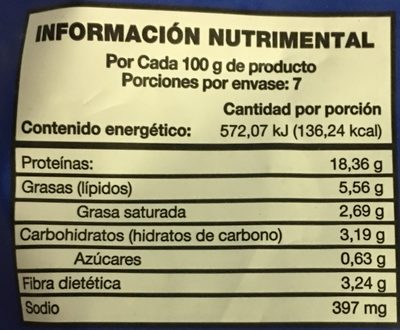 Arrachera de pollo adobada Pilgrim's - Informations nutritionnelles - es