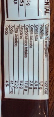 constanzo - Nutrition facts