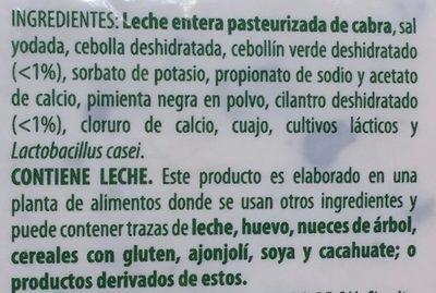 Flaveur Cebollin y Cilantro - Ingredients - es