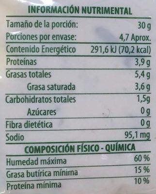 Flaveur Cebollin y Cilantro - Nutrition facts - es