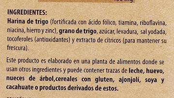 Pita Crisp Natural tostado - Ingrédients - es