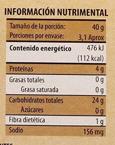 Pita Crisp Natural tostado - Informations nutritionnelles - es