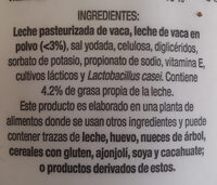 Yogur griego - Ingredientes - en