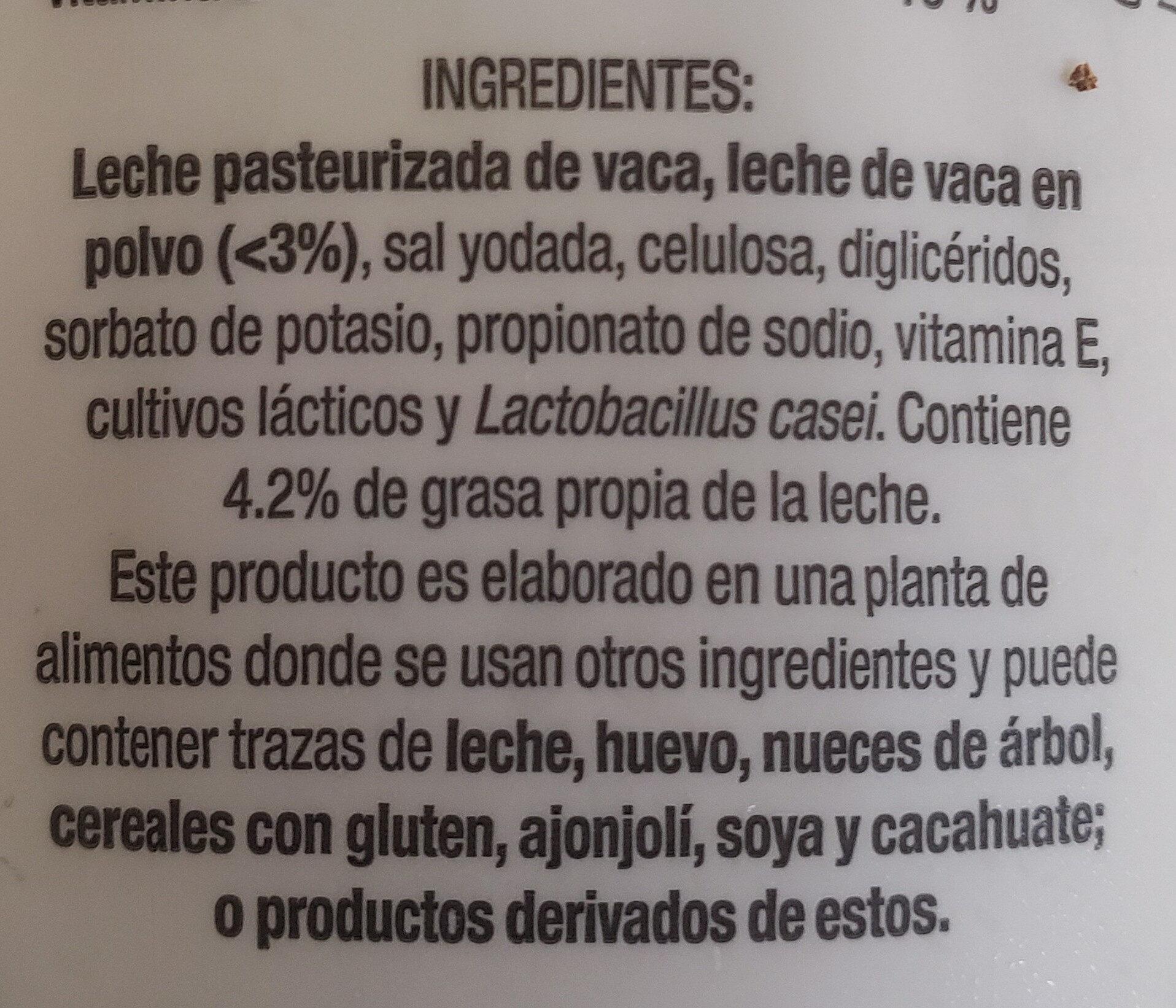 Yogur griego - Ingredientes - en