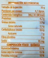 Flaveur Miel & Nuez - Nutrition facts - es