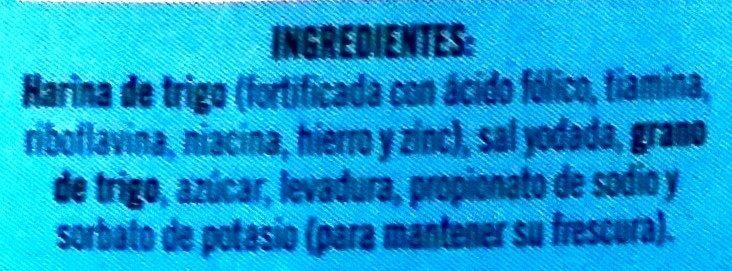 Pan pita Taquero - Ingredients - es