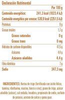 Pan pita de trigo integral - Informations nutritionnelles - es
