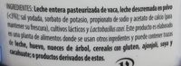 Jocoque  Seco Natural Libanius - Ingredients