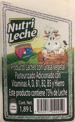 Nutri leche - Ingrédients