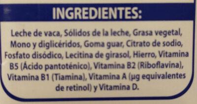 Mileche - Ingrédients - es
