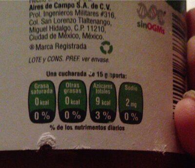 MERMELADA FRUTOS TROPICALES SIN AZUCAR - Informations nutritionnelles - es