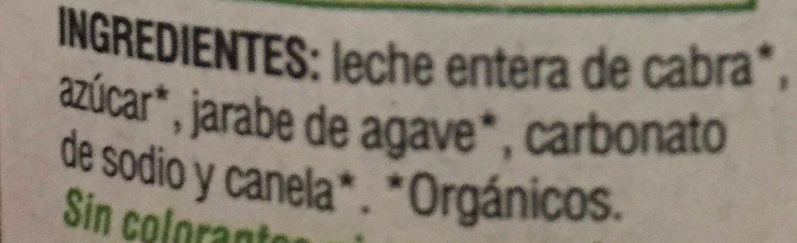 CAJETA ORGANICA - Ingredients - es