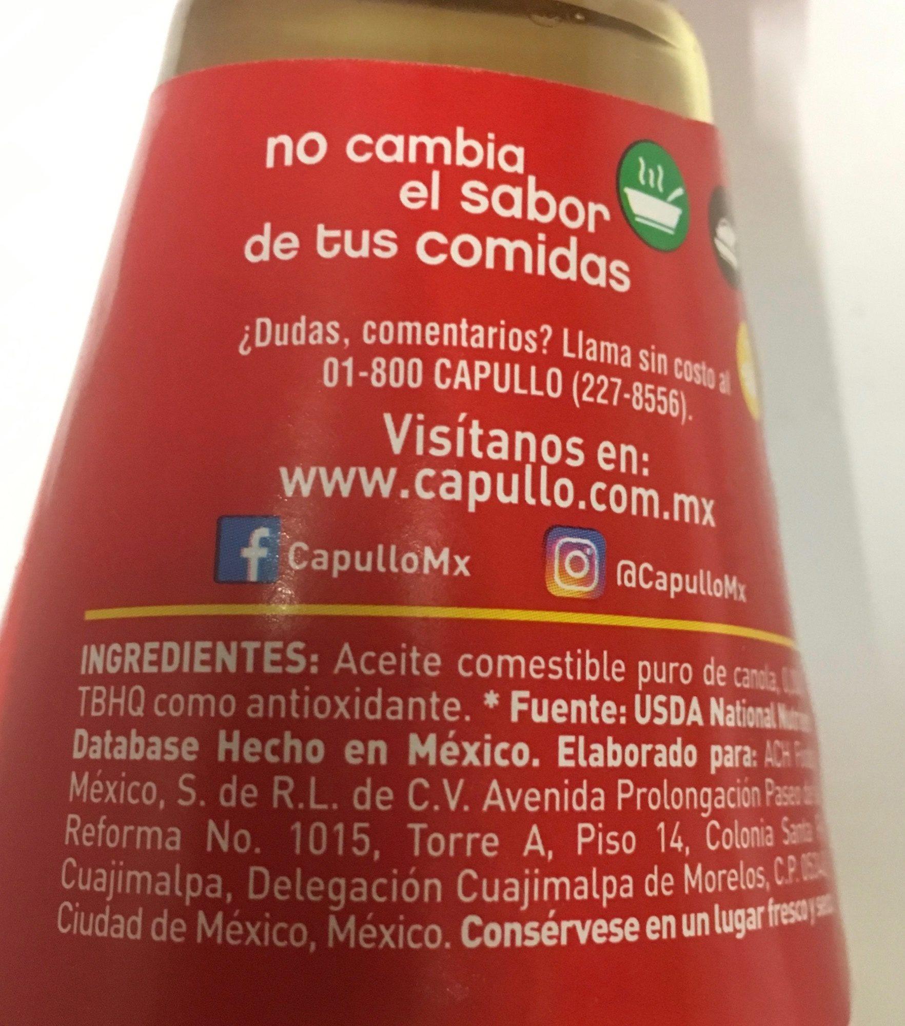 Aceite de Canola - Ingrédients - es