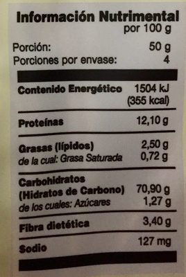 FIDEOS DE HUEVO Y TRIGO - Nutrition facts