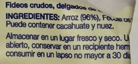 FIDEOS DE ARROZ - Ingredients