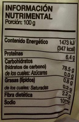 FIDEOS DE ARROZ - Nutrition facts