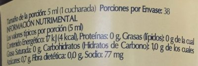 SALSA SOYA CON CHILE - Nutrition facts