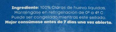 Claras de huevo San Juan - Ingredients - es