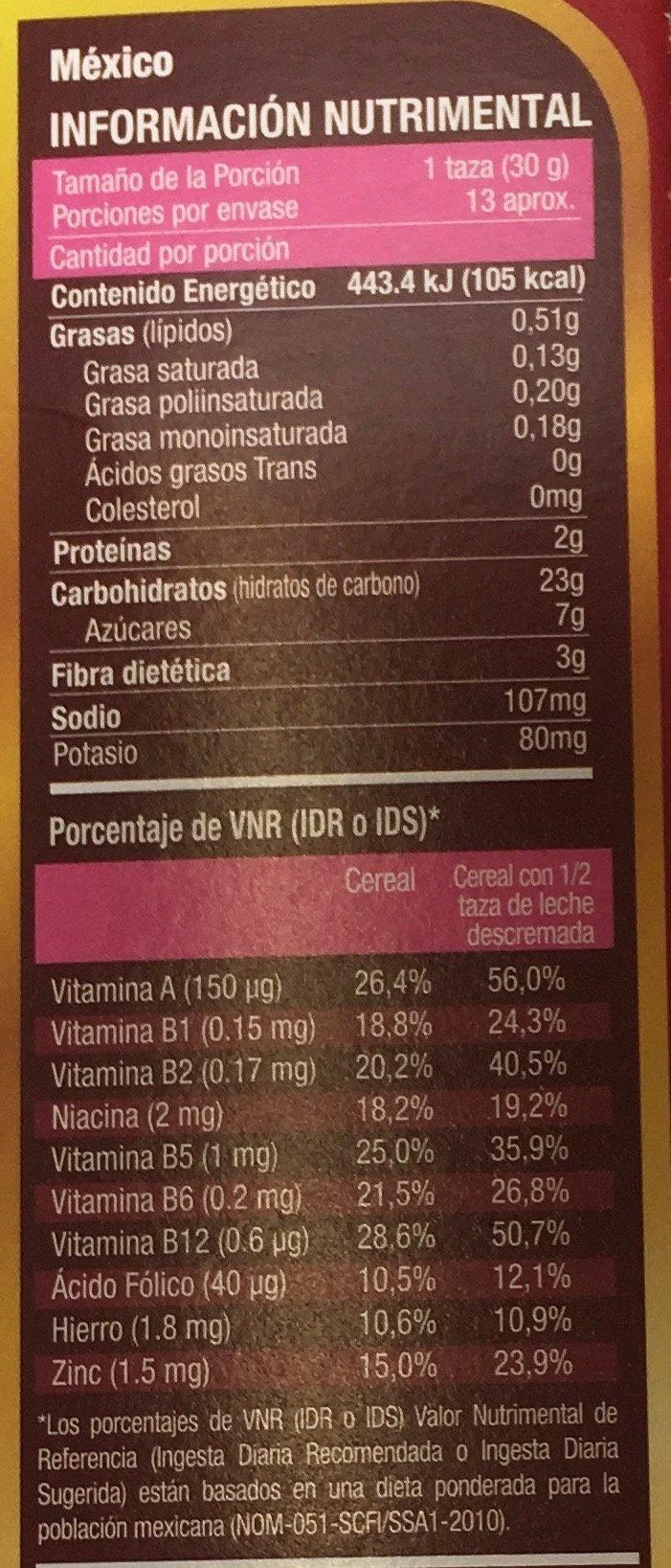 Golden Fit - Voedingswaarden - es