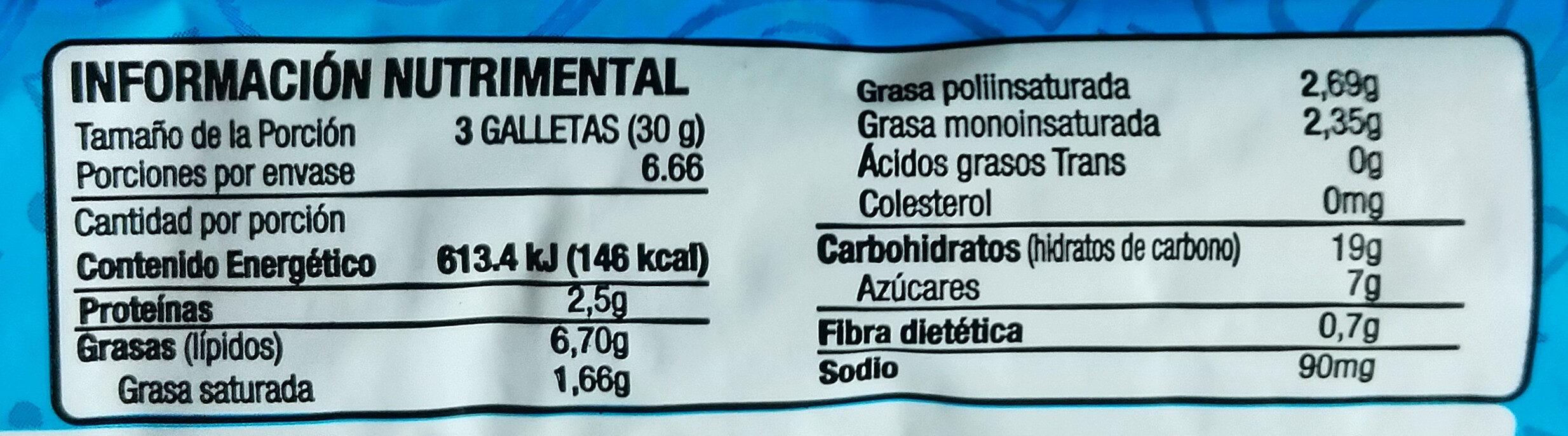Choco sparks - Voedingswaarden - es