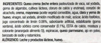 Dip de alcachofa con espinaca - Ingredients