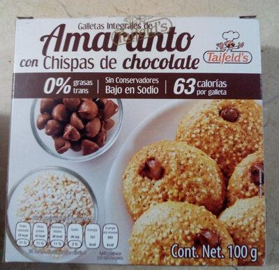 galletas integrales con chispas de chocolate - Producto - es