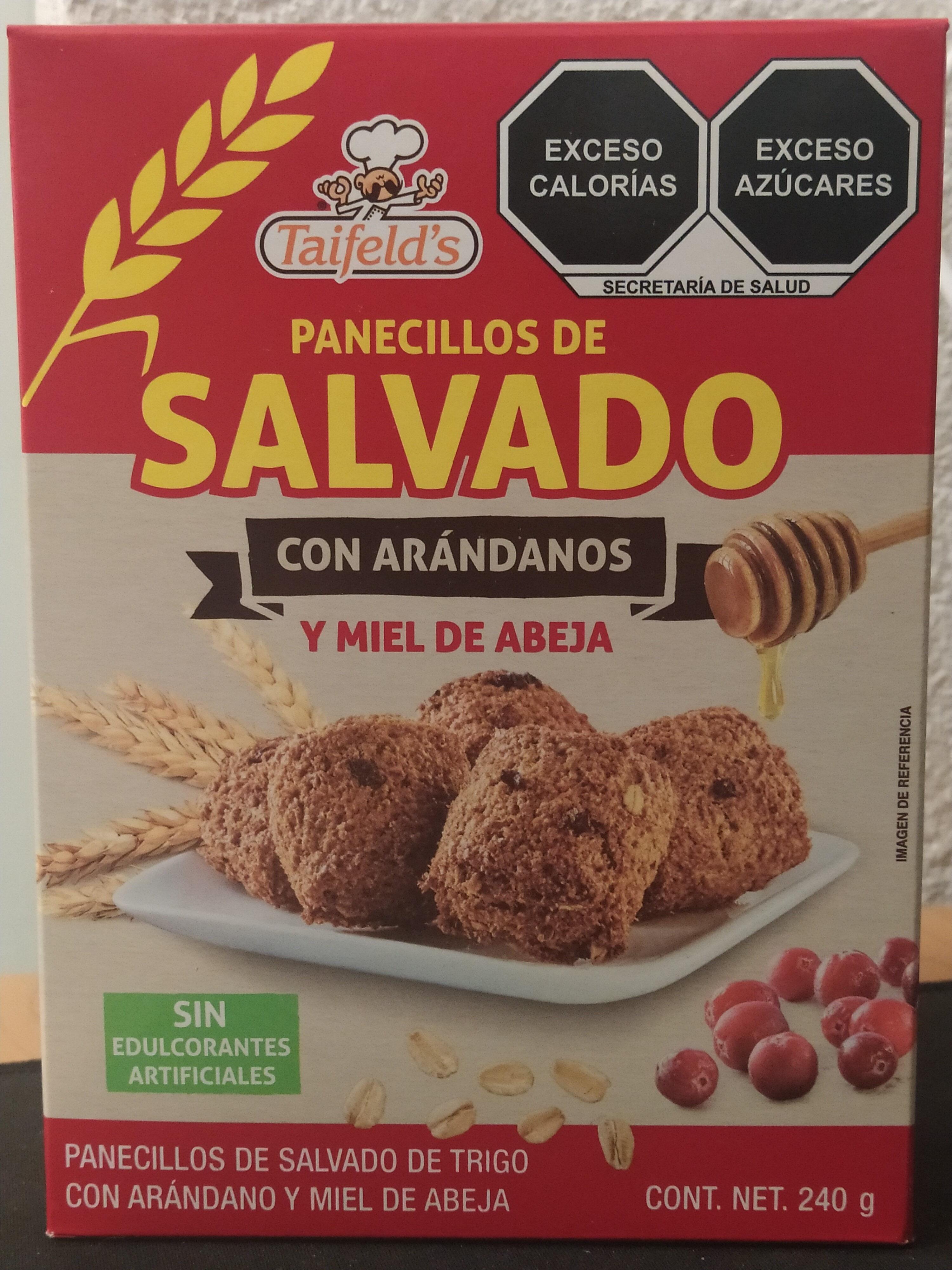 PANECILLOS DE SALVADO CON ARANDANOS TAIFELD'S - Producto - es