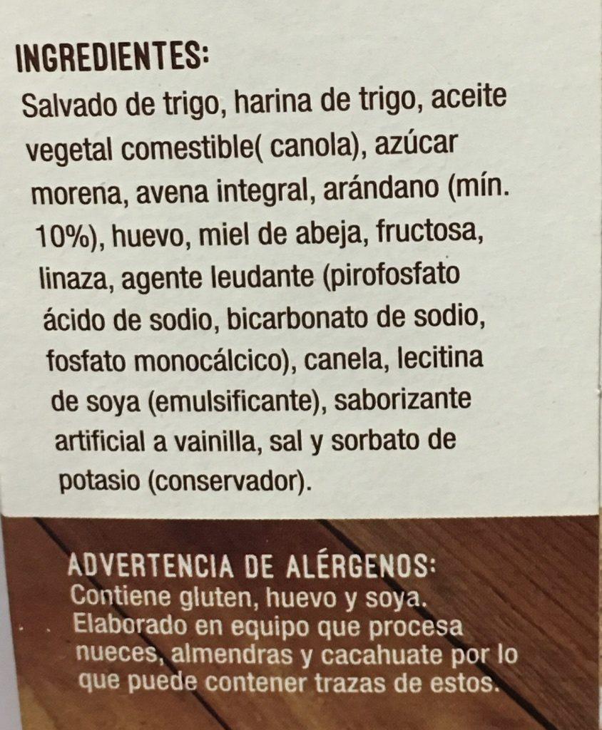 PANECILLOS DE SALVADO TAIFELD'S - Ingredients