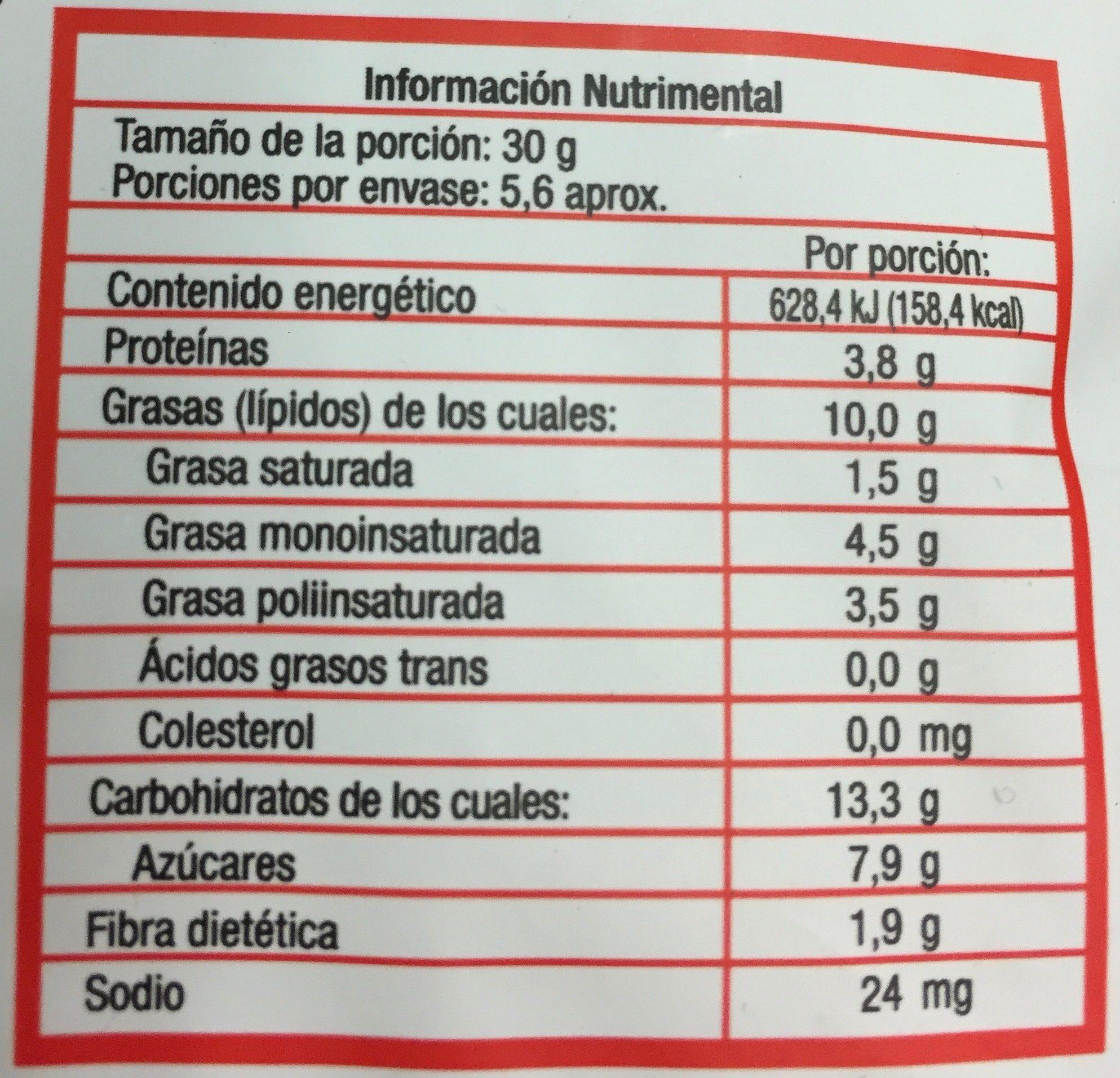 NUTTY BERRY MIX - Voedingswaarden - es