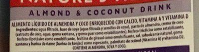Bebida De Almendra y Coco - Ingrédients - es