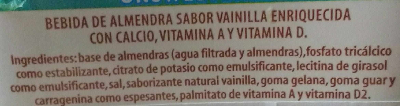 Almond Vanilla - Ingrediënten