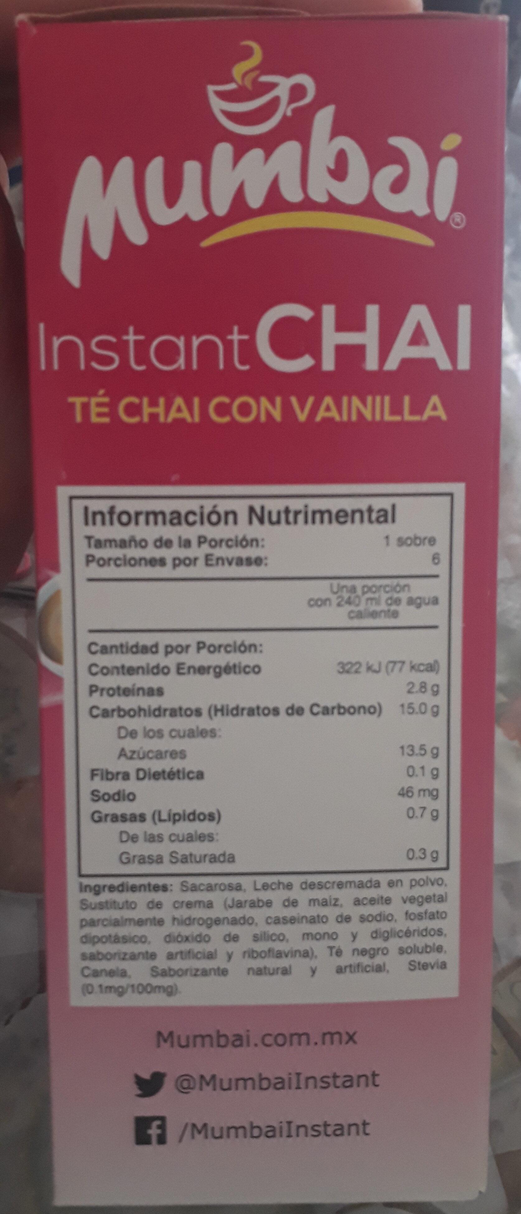 instant chai té chai con vainilla - Produit - es
