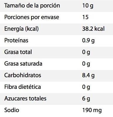Miguelito sabor Mora Azul - Voedingswaarden - es