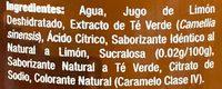 Nature's Factory Té verde sabor Citrus - Ingrédients