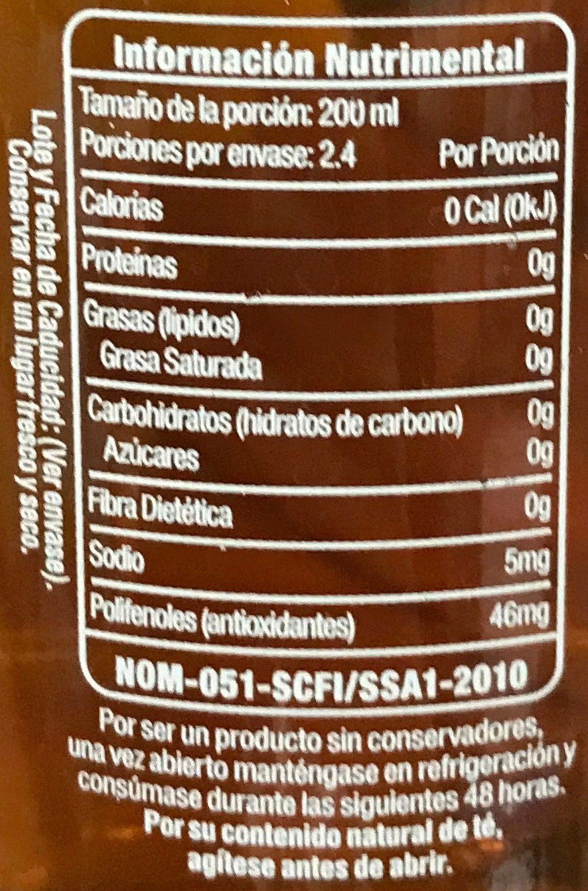 Nature's Factory Té verde sabor Citrus - Informations nutritionnelles