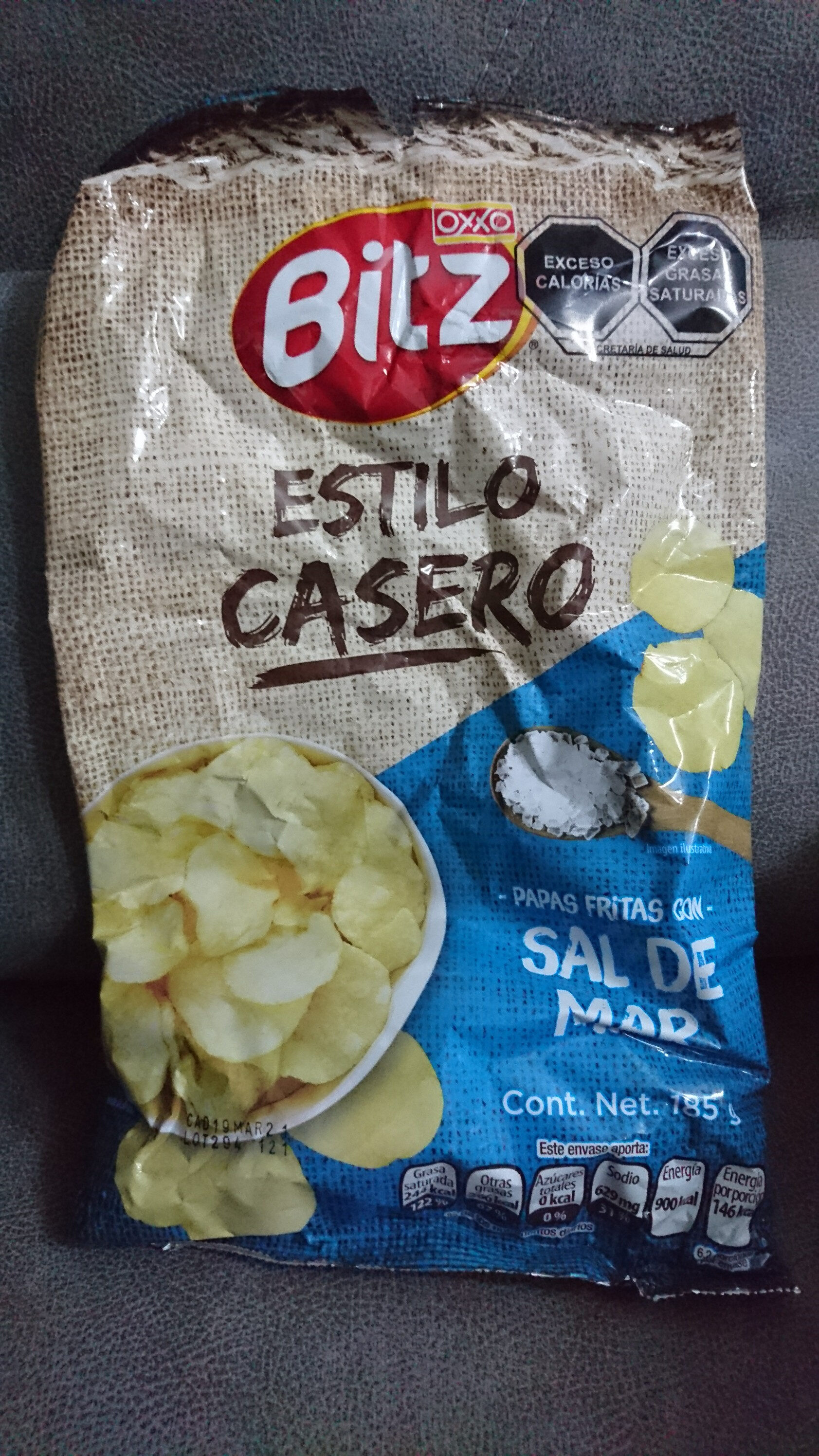 Bitz: Papas fritas con sal de mar - Prodotto - es